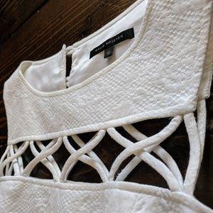 David Meister | Vintage White Cutout Dress